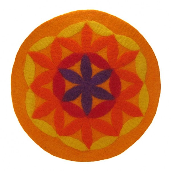 filz sitzmatte d nn blume des lebens 50 cm orange. Black Bedroom Furniture Sets. Home Design Ideas